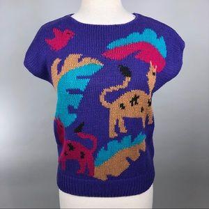 Vintage 80s Novelty Knit Sweater
